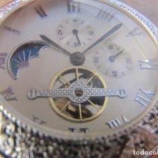 Relojes de bolsillo: RELOJ DE BOLSILLO DE CUERDA CON FASE LUNAR DIARIA, ESFERA DE 24 HORA, ESFERA CON SEGUNDERO. Lote 226948610