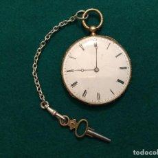 Relojes de bolsillo: RELOJ DE BOLSILLO AIGUILLES ORO 18K. Lote 166745897