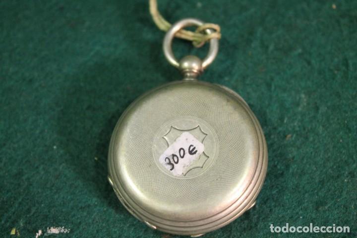 Relojes de bolsillo: RELOJ, BOLSILLO, SIN MARCA, DE PLATA, TIENE LLAVE PARA DAR CUERDA - Foto 2 - 166883744