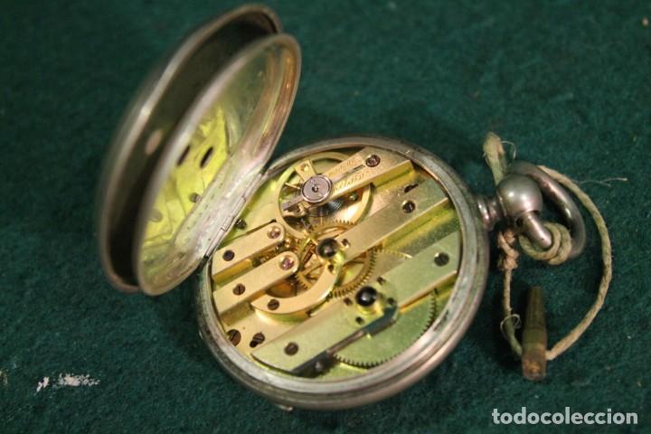 Relojes de bolsillo: RELOJ, BOLSILLO, SIN MARCA, DE PLATA, TIENE LLAVE PARA DAR CUERDA - Foto 3 - 166883744