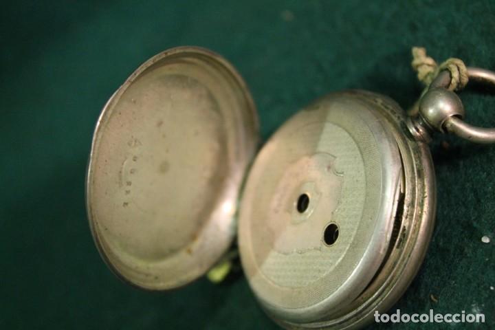 Relojes de bolsillo: RELOJ, BOLSILLO, SIN MARCA, DE PLATA, TIENE LLAVE PARA DAR CUERDA - Foto 4 - 166883744