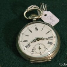 Relojes de bolsillo: RELOJ, DE BOLSILLO,DE PLATA, CYLINDRE 10 RUBIES. Lote 166885620