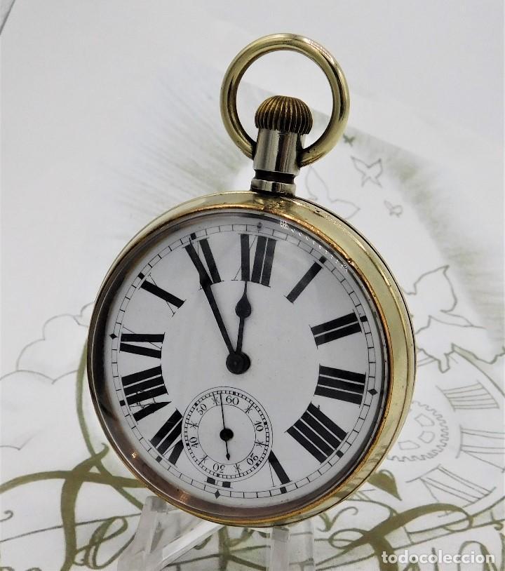 Relojes de bolsillo: GIGANTE RELOJ DE BOLSILLO DOXA(65 MM.)-CIRCA 1910-FUNCIONANDO - Foto 10 - 166890132