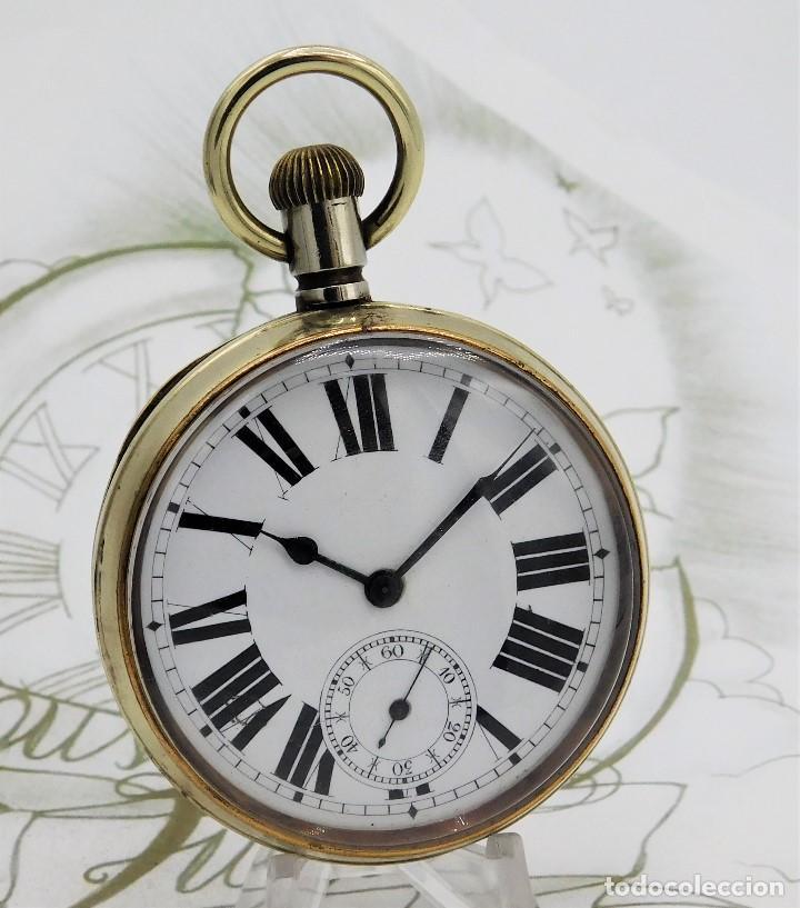 GIGANTE RELOJ DE BOLSILLO DOXA(65 MM.)-CIRCA 1910-FUNCIONANDO (Relojes - Bolsillo Carga Manual)