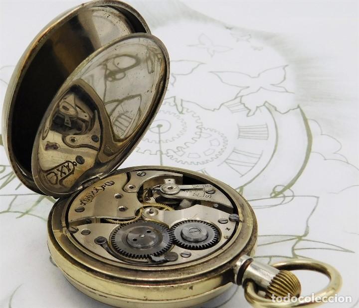 Relojes de bolsillo: GIGANTE RELOJ DE BOLSILLO DOXA(65 MM.)-CIRCA 1910-FUNCIONANDO - Foto 5 - 166890132