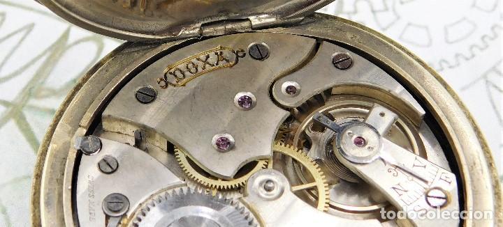 Relojes de bolsillo: GIGANTE RELOJ DE BOLSILLO DOXA(65 MM.)-CIRCA 1910-FUNCIONANDO - Foto 6 - 166890132