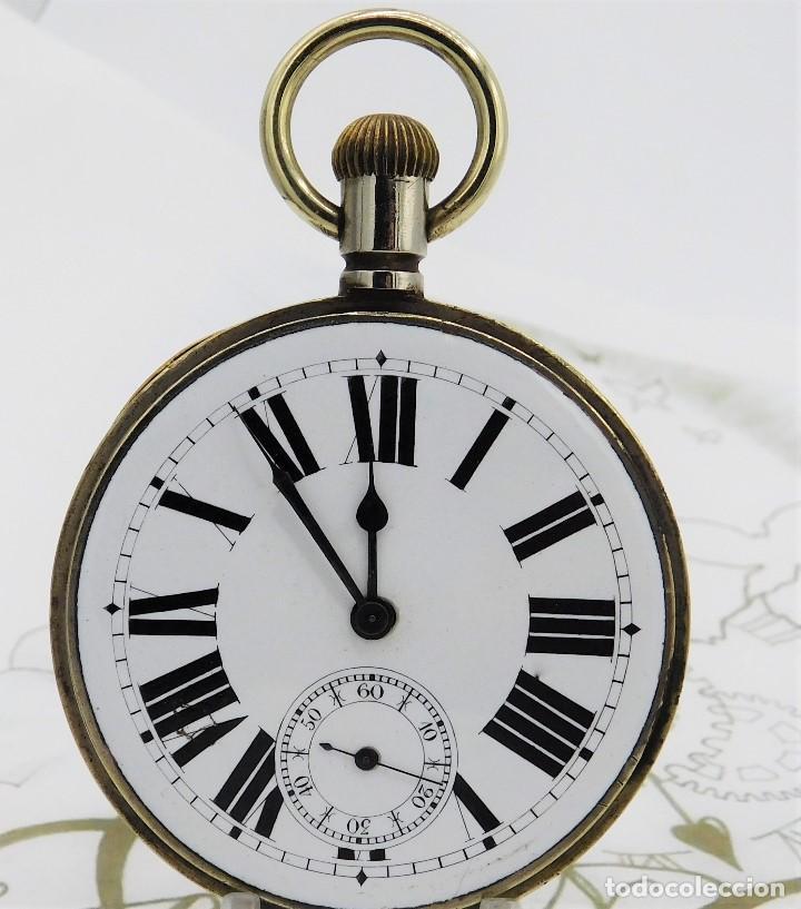 Relojes de bolsillo: GIGANTE RELOJ DE BOLSILLO DOXA(65 MM.)-CIRCA 1910-FUNCIONANDO - Foto 12 - 166890132