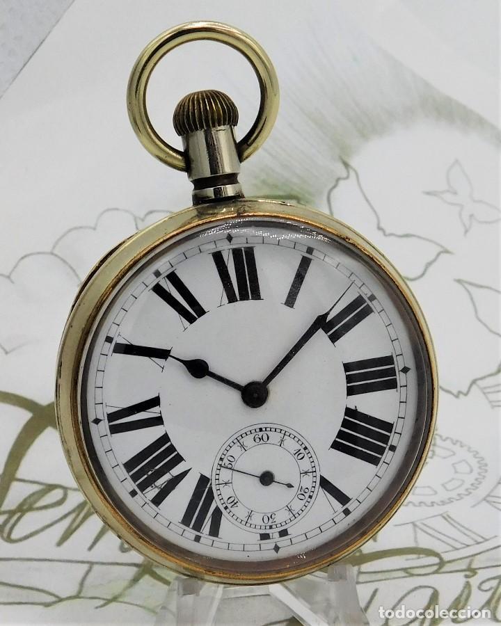 Relojes de bolsillo: GIGANTE RELOJ DE BOLSILLO DOXA(65 MM.)-CIRCA 1910-FUNCIONANDO - Foto 13 - 166890132
