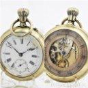 Relojes de bolsillo: MUY RARO RELOJ DE BOLSILLO DOBLE CARA-CRONOGRAFO-REMONTOIR-CIRCA 1900-FUNCIONANDO. Lote 166899436