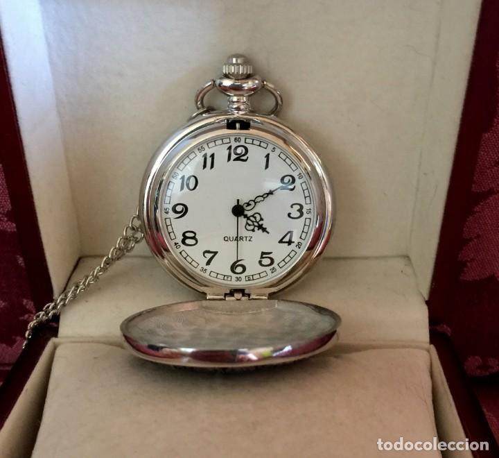 Relojes de bolsillo: RELOJ DE BOLSILLO CON GRABADO DRAGON Y AVE FENIX. - Foto 3 - 260686910