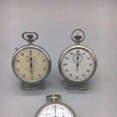 Relojes de bolsillo: LOTE DE TRES RELOJES DE BOLSILLO, UN PODOMETRO, UN CONTADOR DECIMAL Y UN CRONOMETRO VALJOUX. Lote 167168072