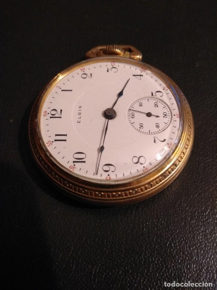 Relojes de bolsillo: Reloj de bolsillo ELGIN U.S.A. - Foto 3 - 167297044