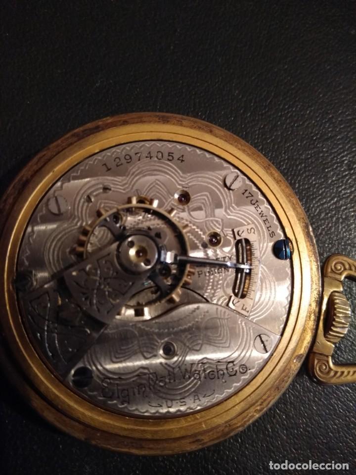 Relojes de bolsillo: Reloj de bolsillo ELGIN U.S.A. - Foto 8 - 167297044