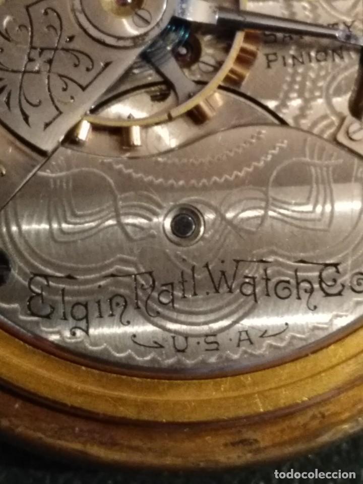 Relojes de bolsillo: Reloj de bolsillo ELGIN U.S.A. - Foto 9 - 167297044