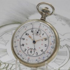 Relojes de bolsillo: VALJOUX-RELOJ DE BOLSILLO CRONOGRAFO-CIRCA 1920-FUNCIONANDO. Lote 167469724
