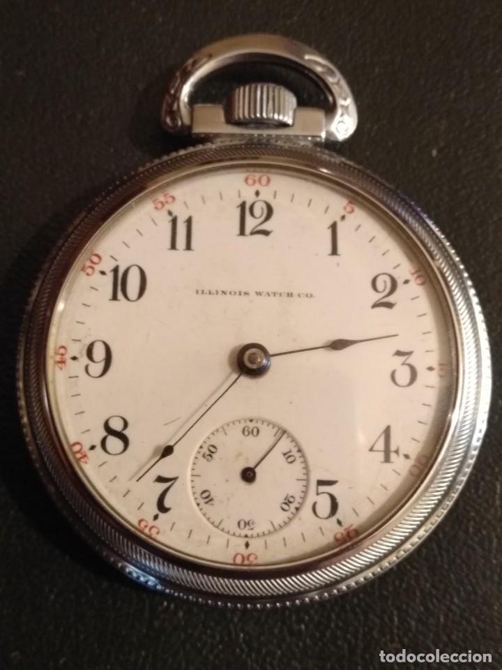RELOJ DE BOLSILLO ILLINOIS USA (Relojes - Bolsillo Carga Manual)