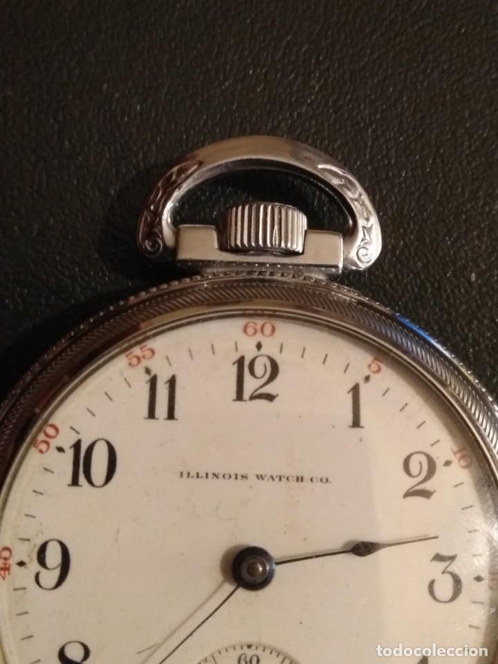 Relojes de bolsillo: Reloj de bolsillo ILLINOIS USA - Foto 3 - 167577668