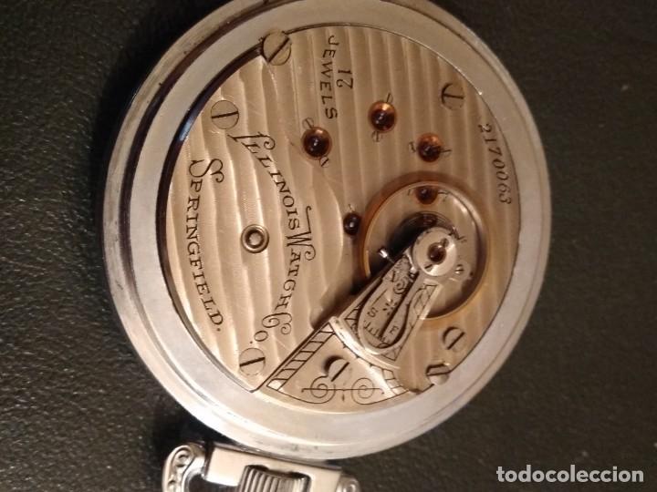 Relojes de bolsillo: Reloj de bolsillo ILLINOIS USA - Foto 5 - 167577668