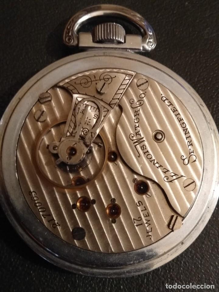 Relojes de bolsillo: Reloj de bolsillo ILLINOIS USA - Foto 6 - 167577668