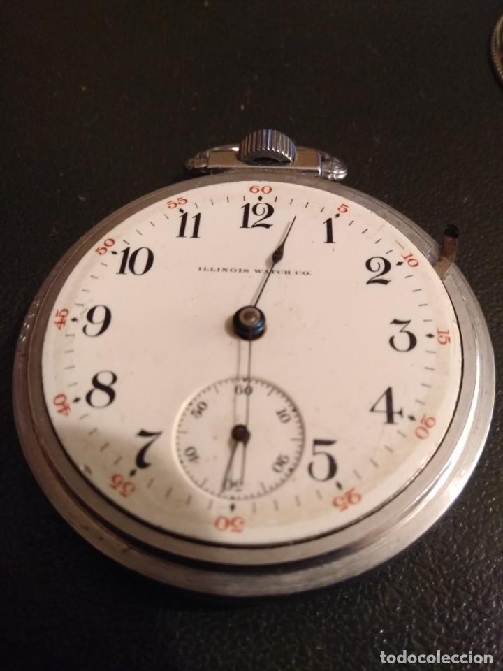 Relojes de bolsillo: Reloj de bolsillo ILLINOIS USA - Foto 9 - 167577668