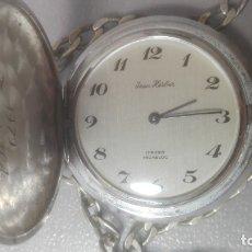 Relojes de bolsillo: RELOJ DE BOLASILLO JEAN HERBER A CUERDA SWISS. Lote 167590888