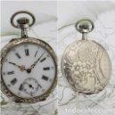 Relojes de bolsillo: PRECIOSO RELOJ DE BOLSILLO REMONTOIR-DE PLATA-CIRCA 1900-3 TAPAS-FUNCIONANDO. Lote 167754496