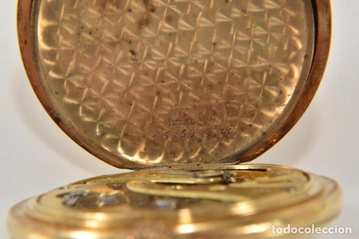 Relojes de bolsillo: ANTIGUO RELOJ BOLSILLO ORO MACIZO DE 18 QUILATES SABONETA funcionando perfecto - Foto 10 - 167761204