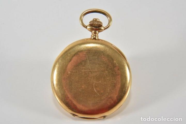 Relojes de bolsillo: ANTIGUO RELOJ BOLSILLO ORO MACIZO DE 18 QUILATES SABONETA funcionando perfecto - Foto 12 - 167761204
