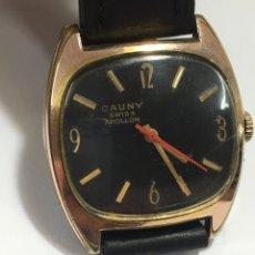 Relojes de bolsillo: RELOJ CAUNY PRIMA APOLLON AÑOS 50 FUNCIONA. Lote 167793277