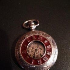 Relojes de bolsillo: RELOJ DE BOLSILLO SEMICAZADOR- ESQUELETO (VER FOTOS). Lote 167814252