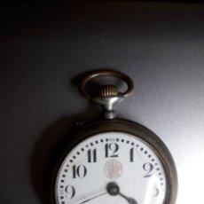 Relojes de bolsillo: MARAVILLOSO RELOJ BOLSILLO DE PLATA CRONÓMETRO 1A VERDAD. MAGNÍFICA MAQUINARIA(NO FUNCIONA,REPARAR). Lote 168043804