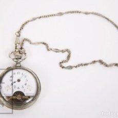 Relojes de bolsillo: ANTIGUO RELOJ DE BOLSILLO HEBDOMAS, 8 JOURS / DÍAS - PIEZAS O RESTAURACIÓN - CIRCA 1910. Lote 168045548