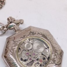 Relojes de bolsillo: RELOJ DE BOLSILLO CARGA MANUAL CON LEONTINA. Lote 168058236