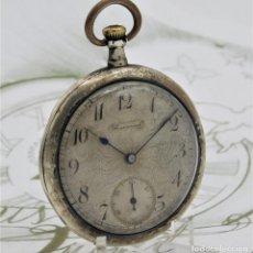 Relojes de bolsillo: RELOJ DE BOLSILLO UNIVERSAL-DE PLATA-CIRCA 1930-1935-FUNCIONANDO. Lote 168099332