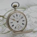 Relojes de bolsillo: OMEGA-RELOJ DE BOLSILLO-DE PLATA-CIRCA 1915-3 TAPAS-FUNCIONANDO. Lote 168110704