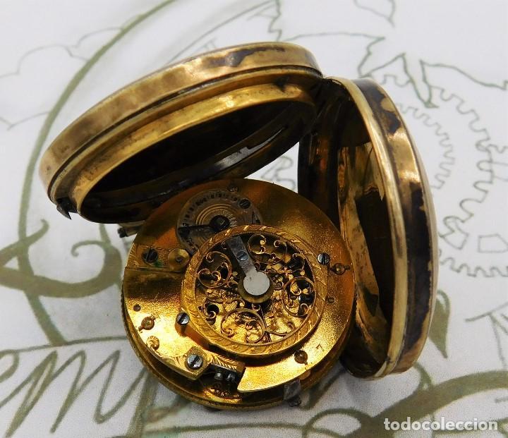 Relojes de bolsillo: MUY ANTIGUO-RELOJ DE BOLSILLO-DE PLATA-CATALINO-CIRCA 1700-1730-FUNCIONANDO - Foto 2 - 168116256