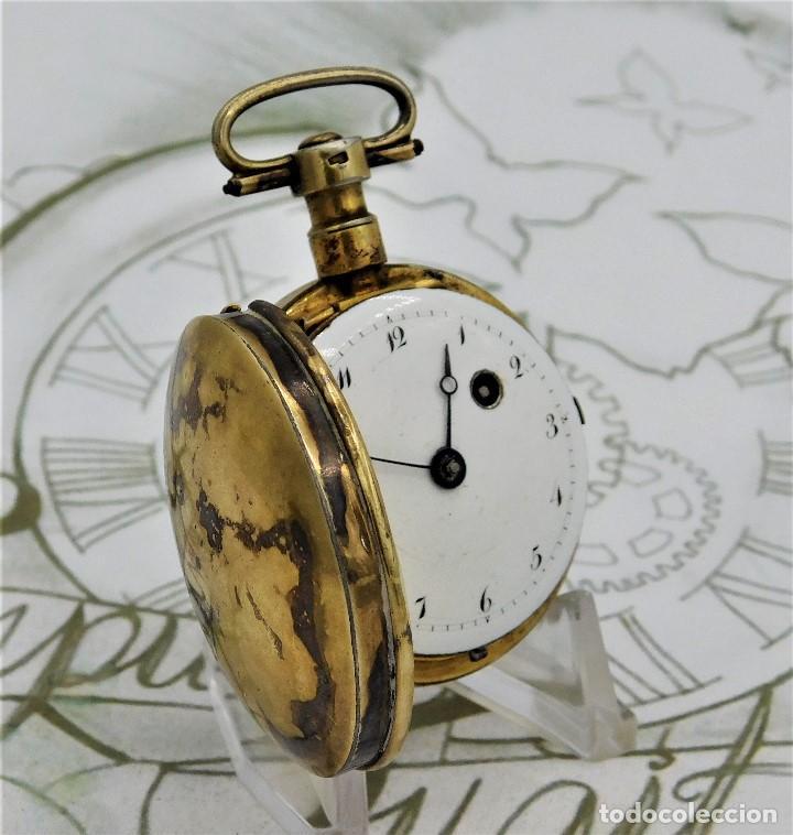 Relojes de bolsillo: MUY ANTIGUO-RELOJ DE BOLSILLO-DE PLATA-CATALINO-CIRCA 1700-1730-FUNCIONANDO - Foto 9 - 168116256