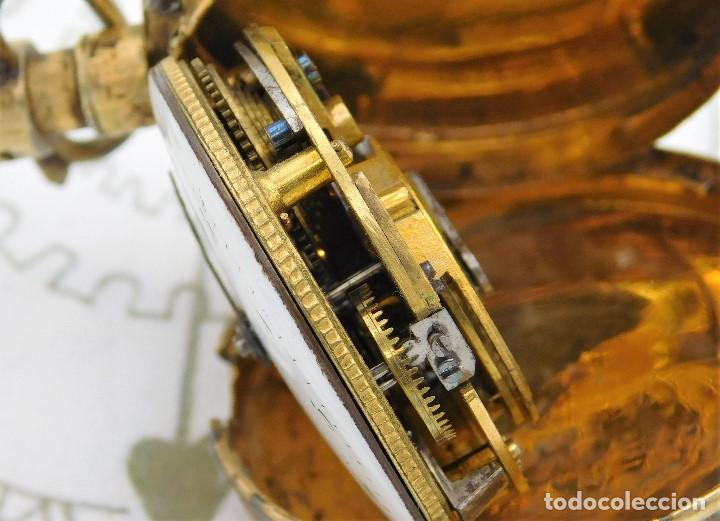 Relojes de bolsillo: MUY ANTIGUO-RELOJ DE BOLSILLO-DE PLATA-CATALINO-CIRCA 1700-1730-FUNCIONANDO - Foto 12 - 168116256