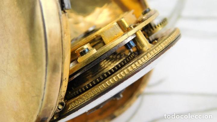 Relojes de bolsillo: MUY ANTIGUO-RELOJ DE BOLSILLO-DE PLATA-CATALINO-CIRCA 1700-1730-FUNCIONANDO - Foto 13 - 168116256