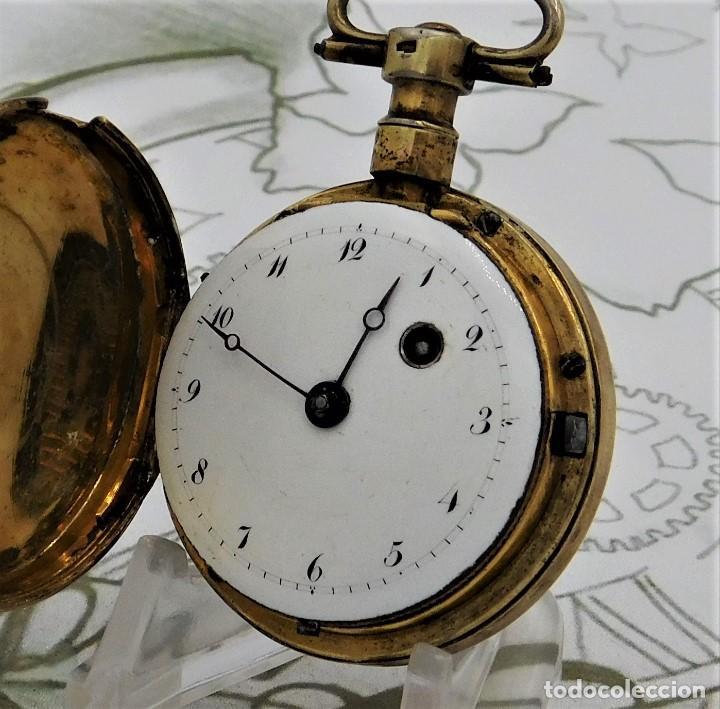 Relojes de bolsillo: MUY ANTIGUO-RELOJ DE BOLSILLO-DE PLATA-CATALINO-CIRCA 1700-1730-FUNCIONANDO - Foto 17 - 168116256