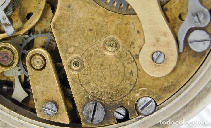 Relojes de bolsillo: REGULADOR PATENT-PRECIOSO RELOJ DE BOLSILLO ROSKOPF-CIRCA 1900 -FUNCIONANDO - Foto 3 - 168302120