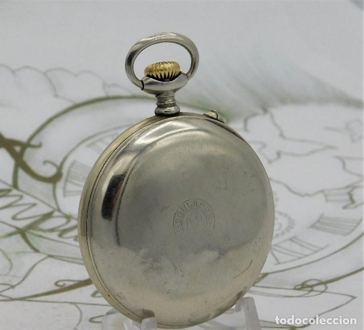 Relojes de bolsillo: REGULADOR PATENT-PRECIOSO RELOJ DE BOLSILLO ROSKOPF-CIRCA 1900 -FUNCIONANDO - Foto 5 - 168302120