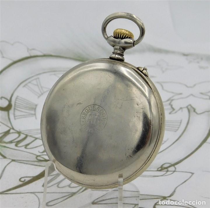 Relojes de bolsillo: REGULADOR PATENT-PRECIOSO RELOJ DE BOLSILLO ROSKOPF-CIRCA 1900 -FUNCIONANDO - Foto 6 - 168302120