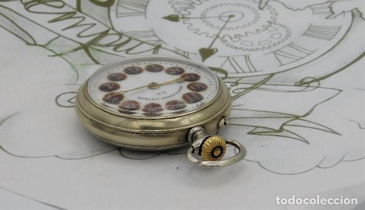 Relojes de bolsillo: REGULADOR PATENT-PRECIOSO RELOJ DE BOLSILLO ROSKOPF-CIRCA 1900 -FUNCIONANDO - Foto 8 - 168302120