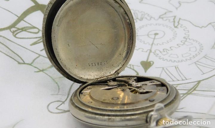 Relojes de bolsillo: LONGINES-RELOJ DE BOLSILLO-CIRCA 1908-15 RUBÍES-3 TAPAS-FUNCIONANDO - Foto 4 - 168305864