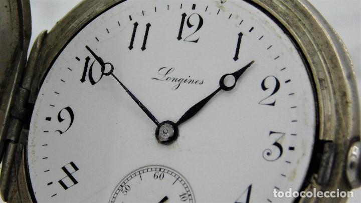 Relojes de bolsillo: LONGINES-RELOJ DE BOLSILLO-CIRCA 1908-15 RUBÍES-3 TAPAS-FUNCIONANDO - Foto 7 - 168305864