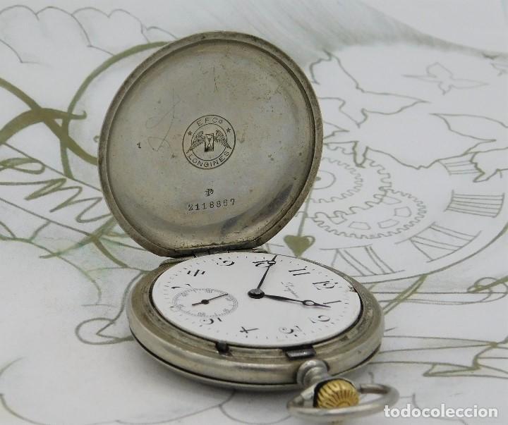 Relojes de bolsillo: LONGINES-RELOJ DE BOLSILLO-CIRCA 1908-15 RUBÍES-3 TAPAS-FUNCIONANDO - Foto 10 - 168305864