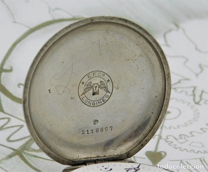 Relojes de bolsillo: LONGINES-RELOJ DE BOLSILLO-CIRCA 1908-15 RUBÍES-3 TAPAS-FUNCIONANDO - Foto 3 - 168305864