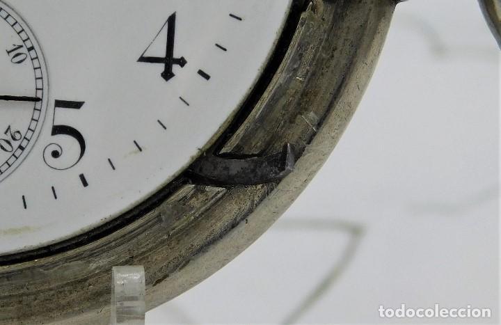 Relojes de bolsillo: LONGINES-RELOJ DE BOLSILLO-CIRCA 1908-15 RUBÍES-3 TAPAS-FUNCIONANDO - Foto 8 - 168305864