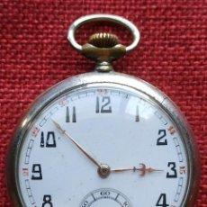 Relojes de bolsillo: RELOJ LEPINE DOLLAR - ACERO - ESFERA PORCELANA - AÑOS 40 - PESO 75 - DIAMETRO 48 MM. Lote 168324372